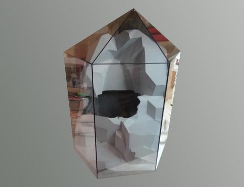 Présentoir forme diamant en verre